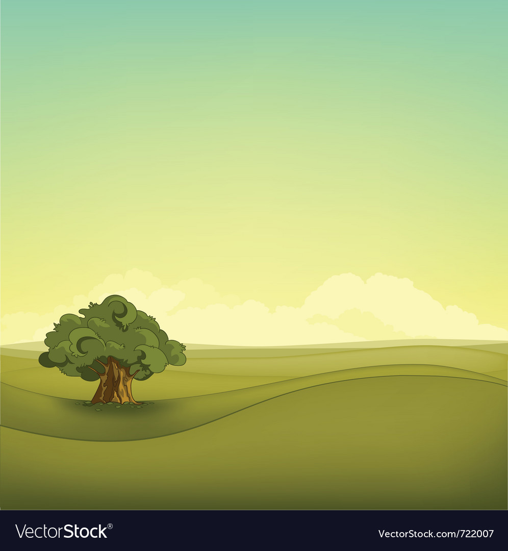 Field landscape vector | Price: 1 Credit (USD $1)