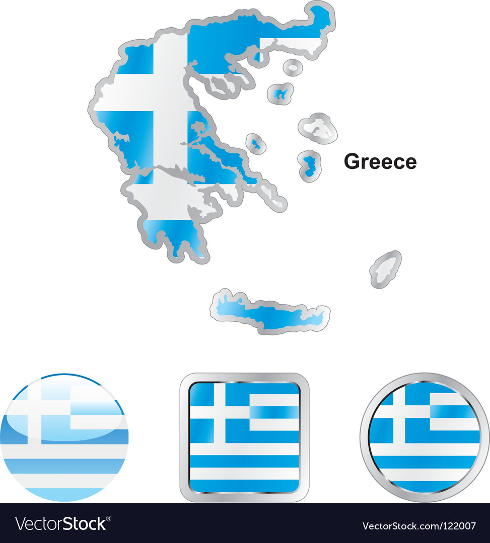 Map of greece vector | Price: 1 Credit (USD $1)