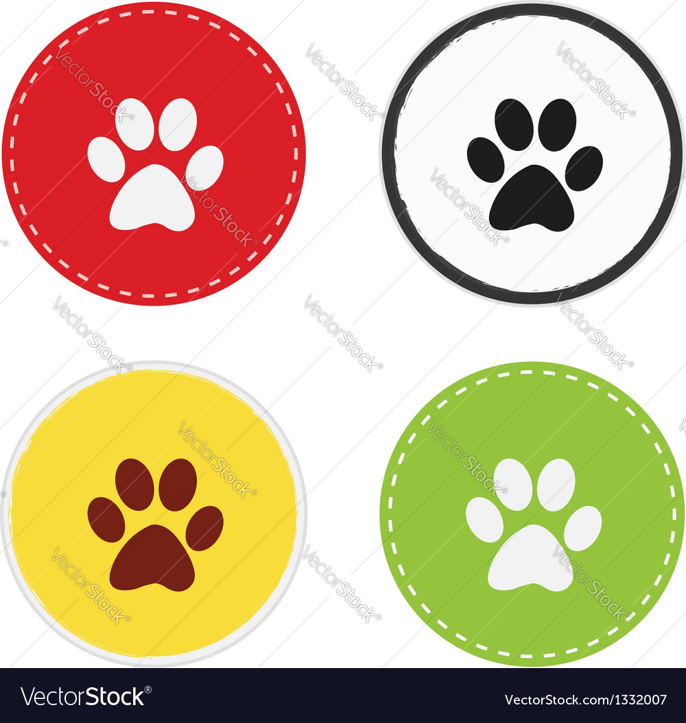 Paw circle vector | Price: 1 Credit (USD $1)
