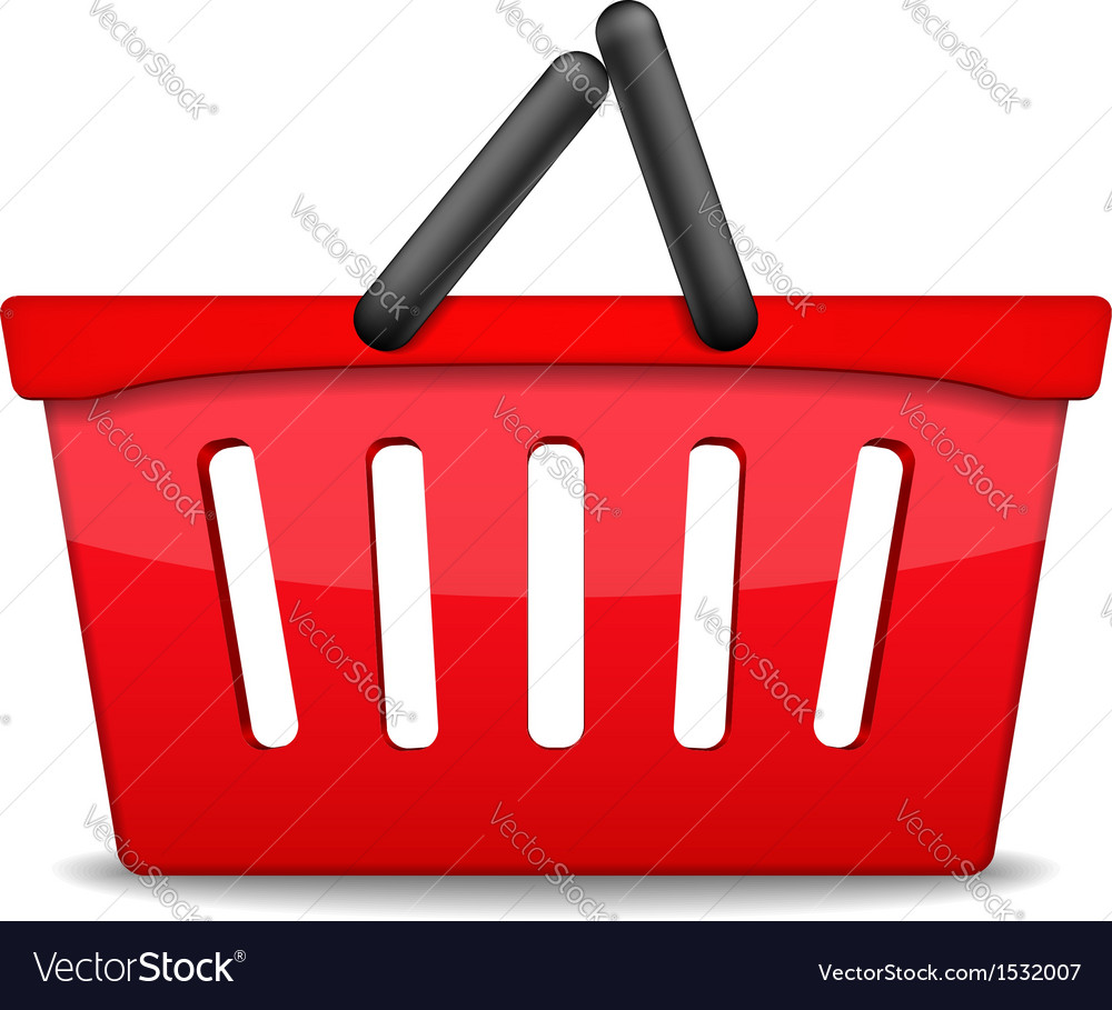 Shopping basket icon vector | Price: 3 Credit (USD $3)