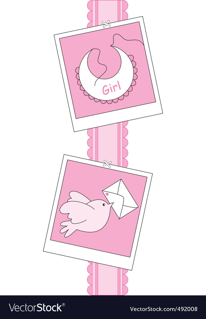Baby girl vector | Price: 1 Credit (USD $1)
