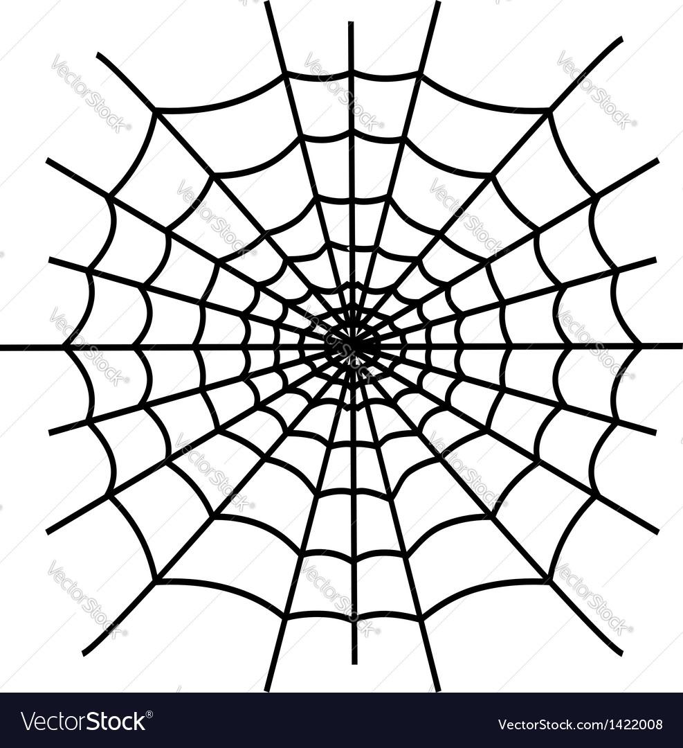Black spiderweb isolated vector | Price: 1 Credit (USD $1)