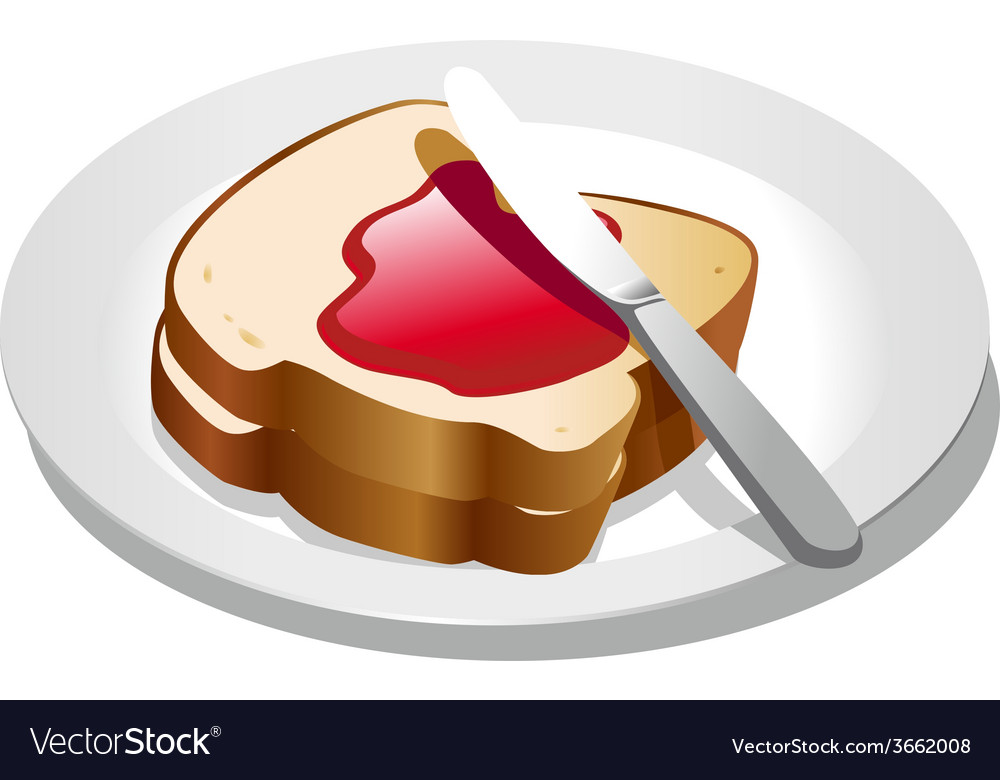 Bread and jam vector | Price: 1 Credit (USD $1)