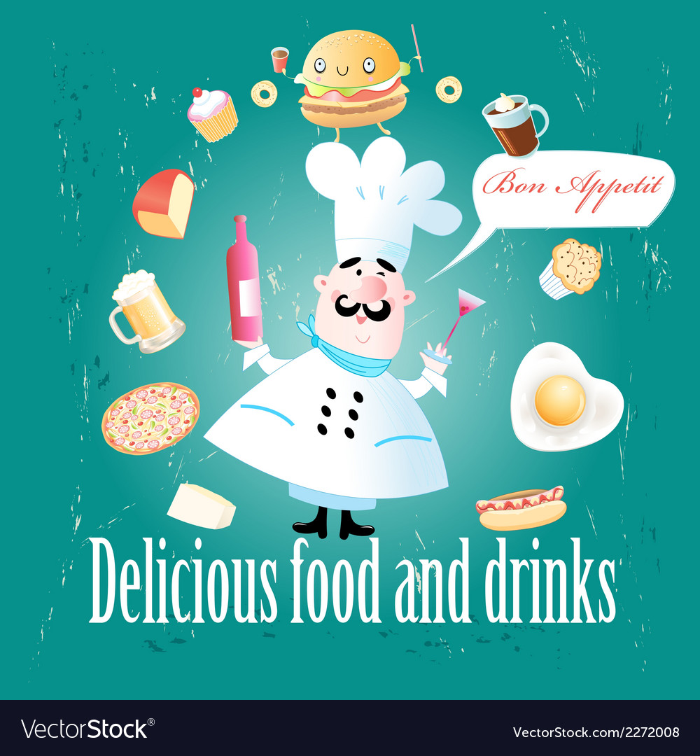 Cook different meals and drinks vector | Price: 1 Credit (USD $1)