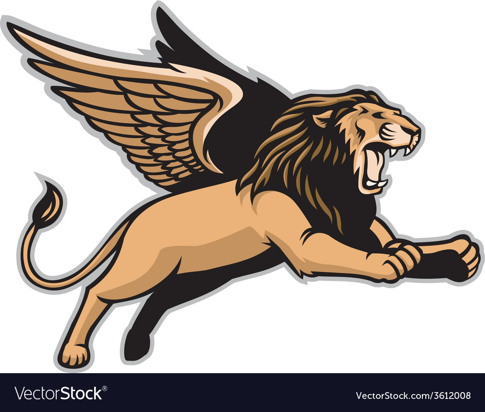 Flying winged lion vector | Price: 3 Credit (USD $3)