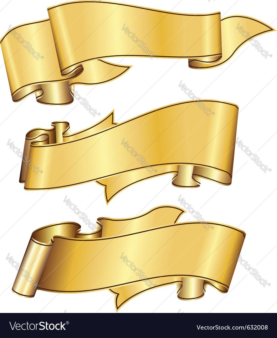 Gold ribbon vector | Price: 1 Credit (USD $1)