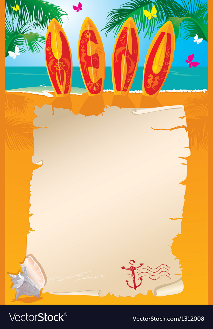 Menu design - surf boards with hand drawn text vector | Price: 3 Credit (USD $3)