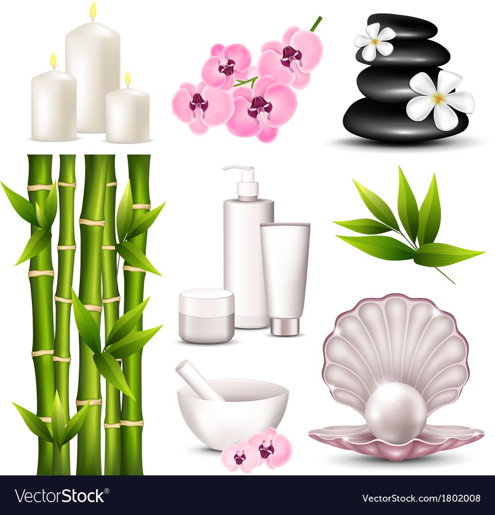 Set of spa icons vector | Price: 1 Credit (USD $1)