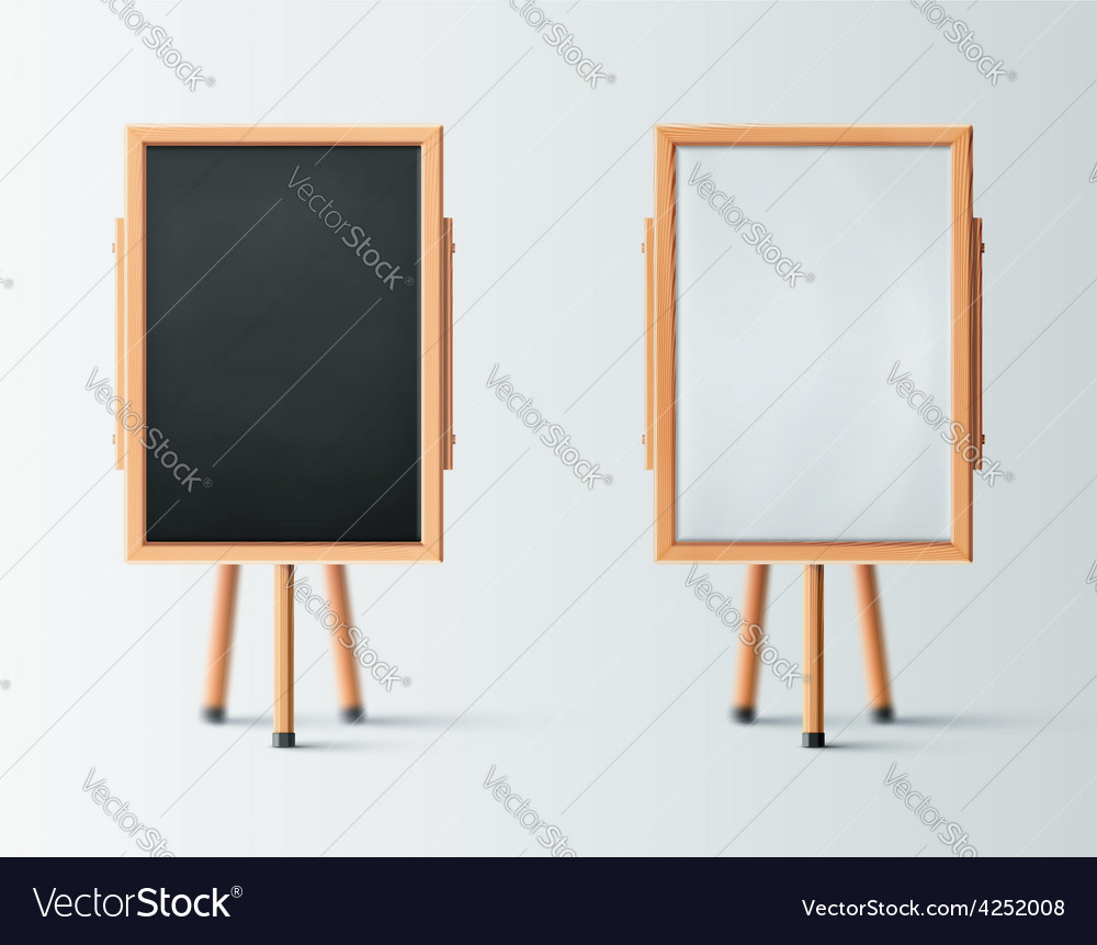 Two wooden easel vector | Price: 3 Credit (USD $3)