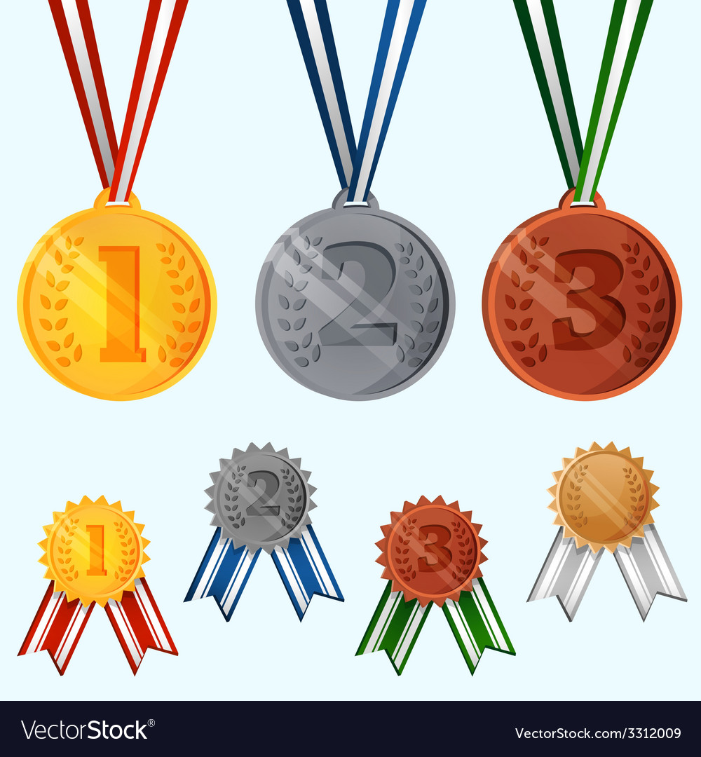 Award medals set vector | Price: 1 Credit (USD $1)
