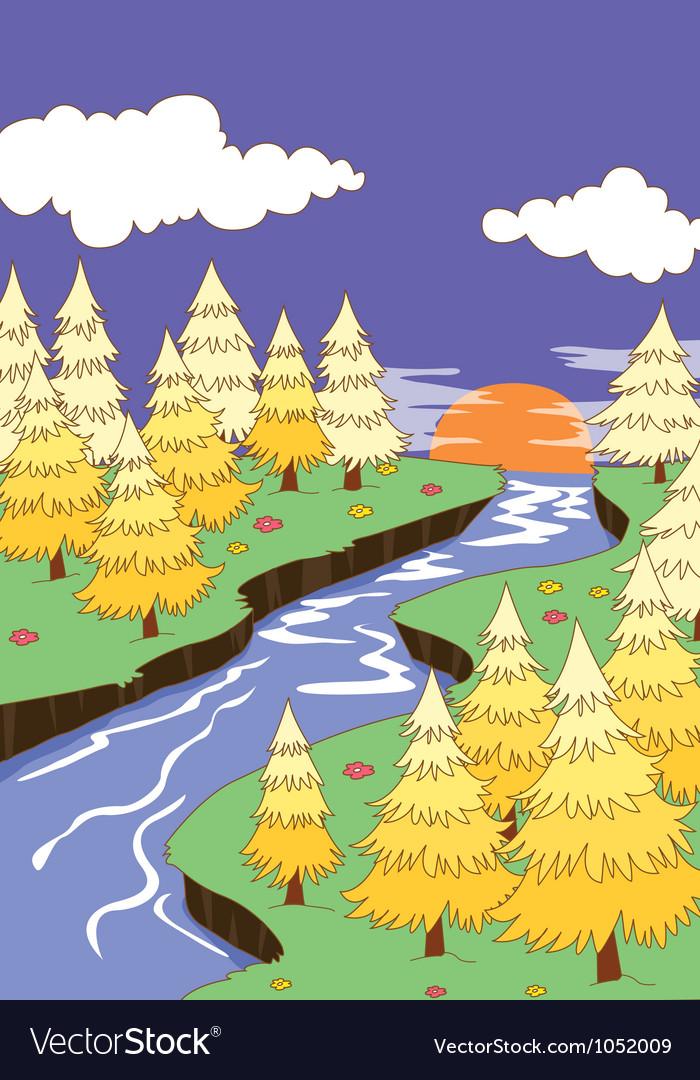 Beautiful landscape vector   Price: 1 Credit (USD $1)