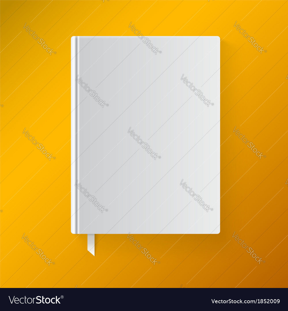 Blank book cover with a bookmark object for design vector | Price: 1 Credit (USD $1)