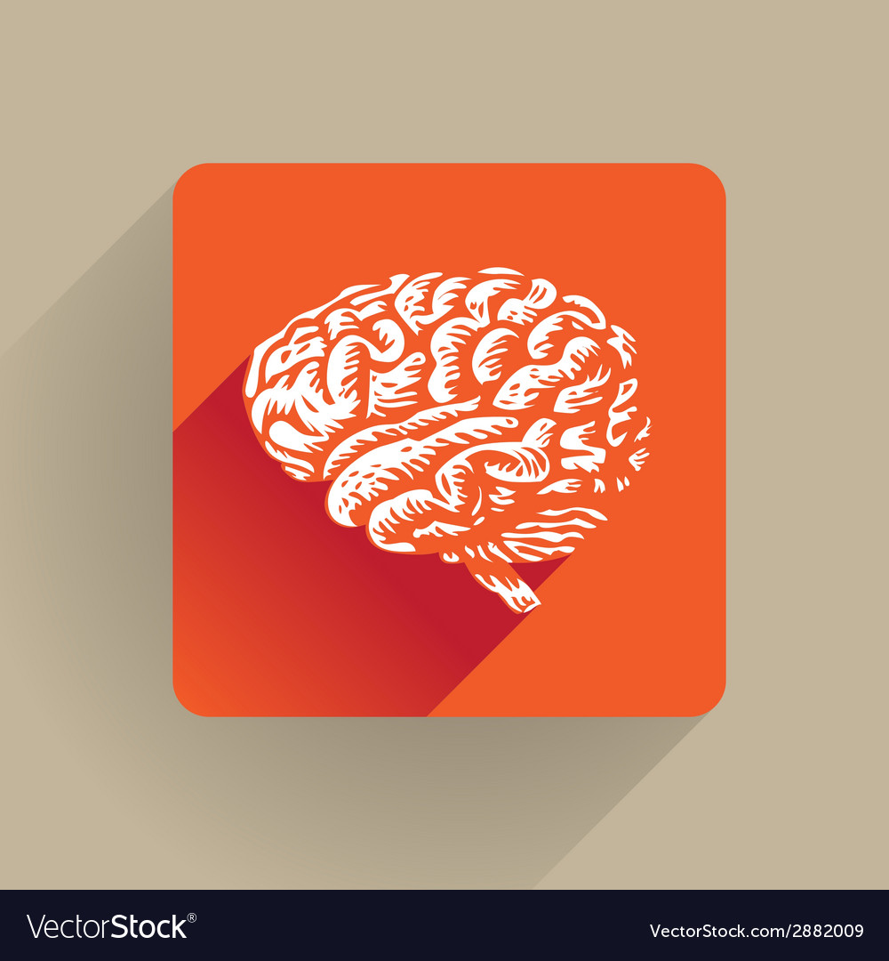 Human brain icon vector | Price: 1 Credit (USD $1)