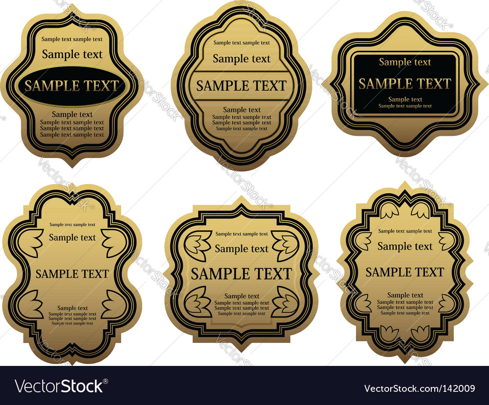 Set of golden labels vector | Price: 1 Credit (USD $1)