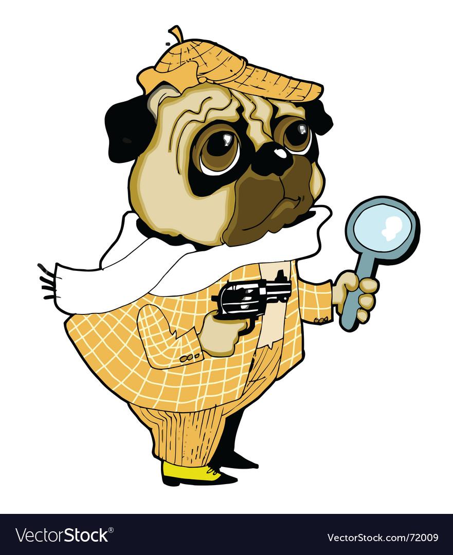 Sherlock holmes dog vector | Price: 3 Credit (USD $3)