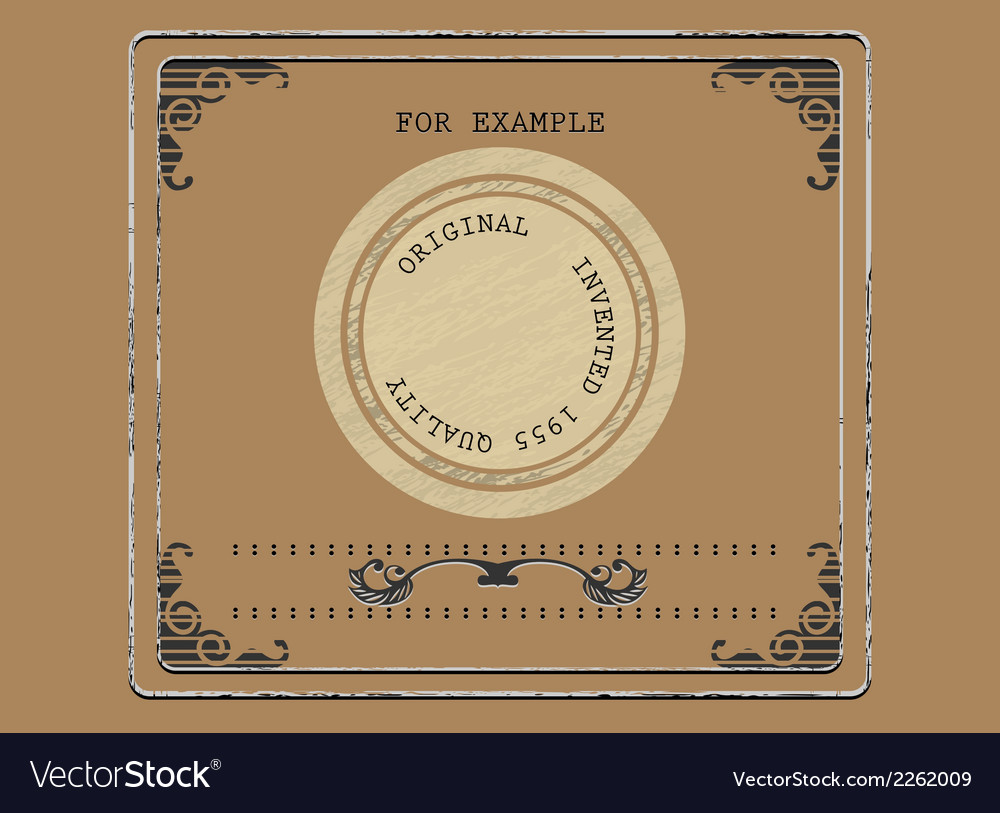 Vintage product label vector | Price: 1 Credit (USD $1)