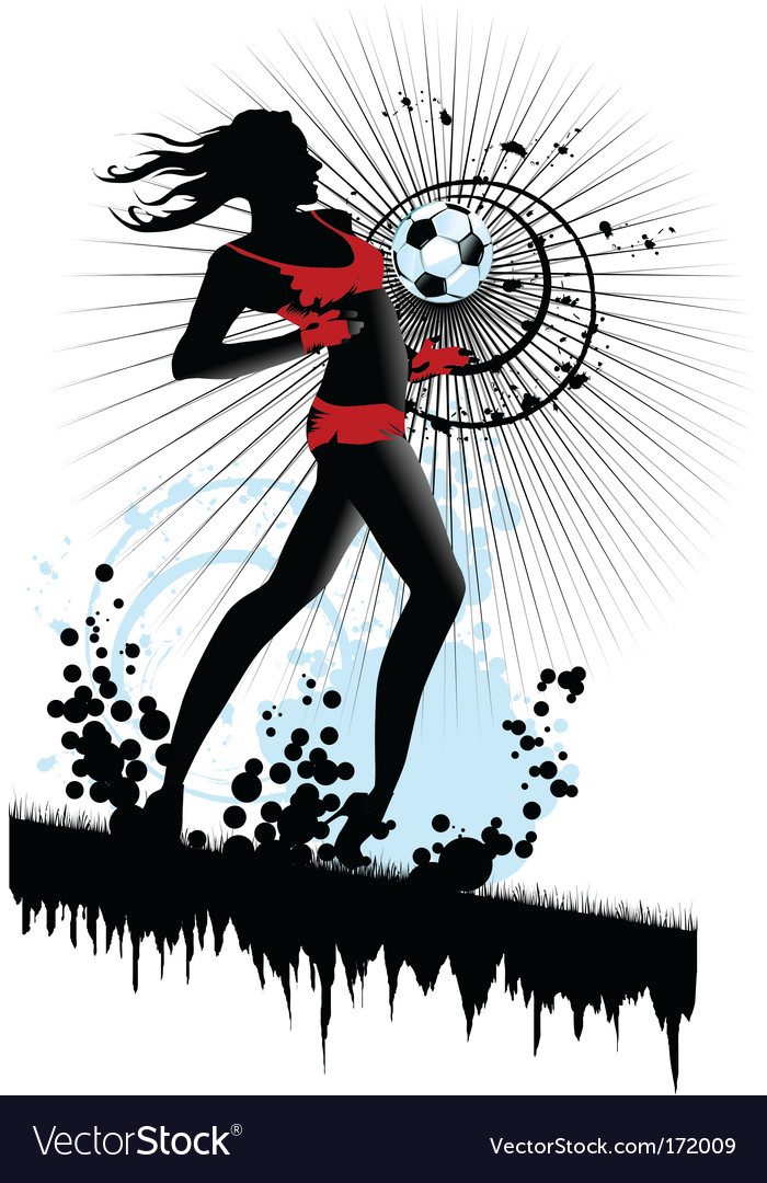 Woman soccer vector | Price: 1 Credit (USD $1)