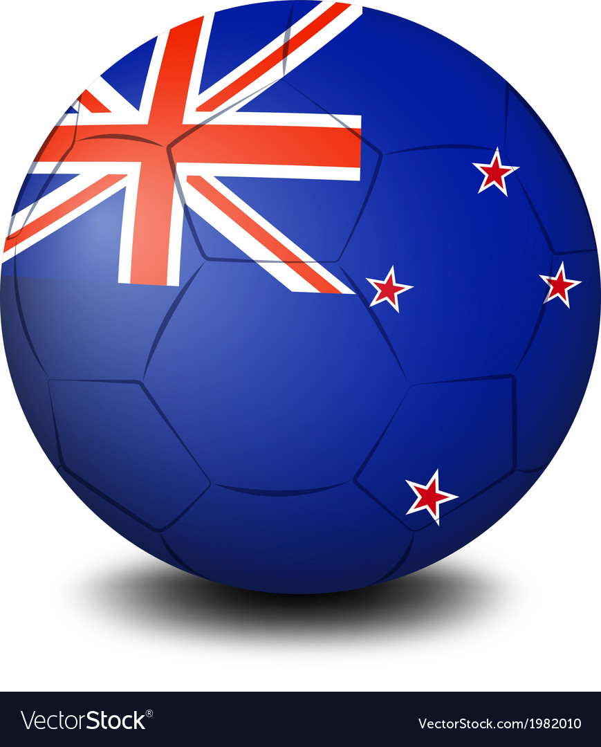 A soccer ball with the flag of new zealand vector | Price: 1 Credit (USD $1)