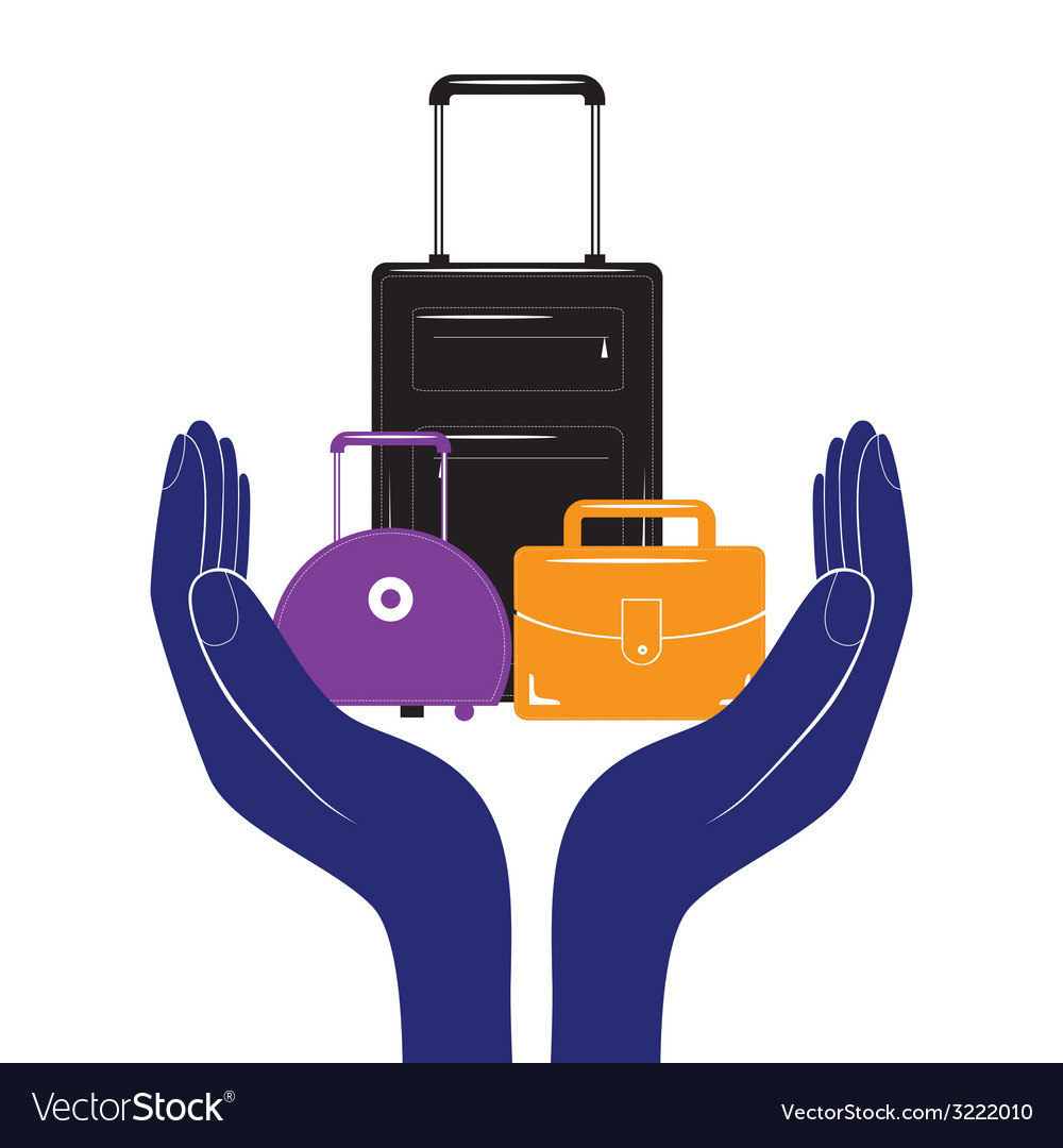 Baggage insurance sign icon travel luggage vector   Price: 1 Credit (USD $1)