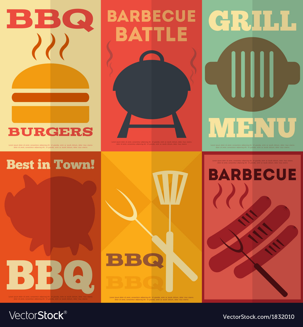 Barbecue posters vector | Price: 1 Credit (USD $1)