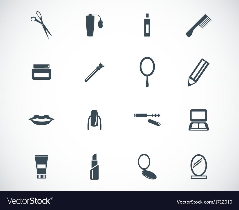 Black cosmetics icons set vector   Price: 1 Credit (USD $1)