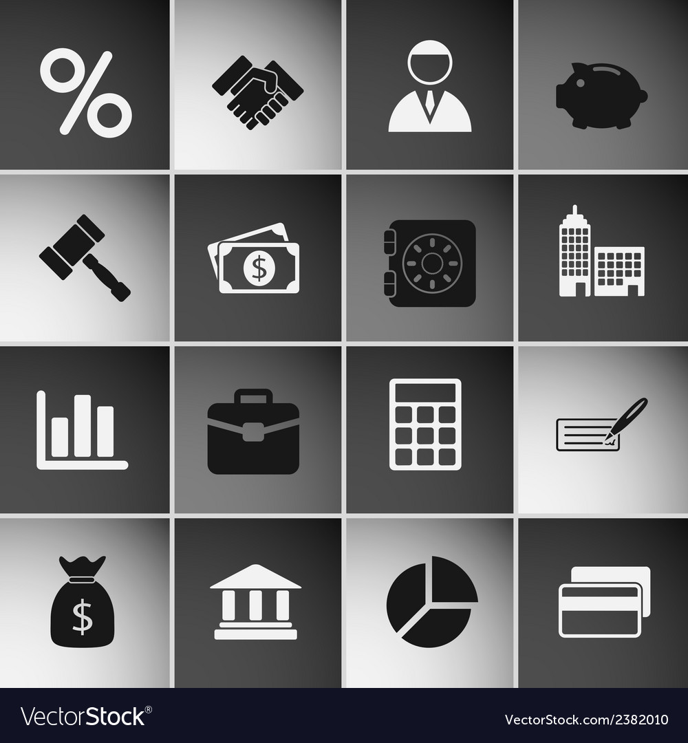 Business icons set vol 2 vector | Price: 1 Credit (USD $1)