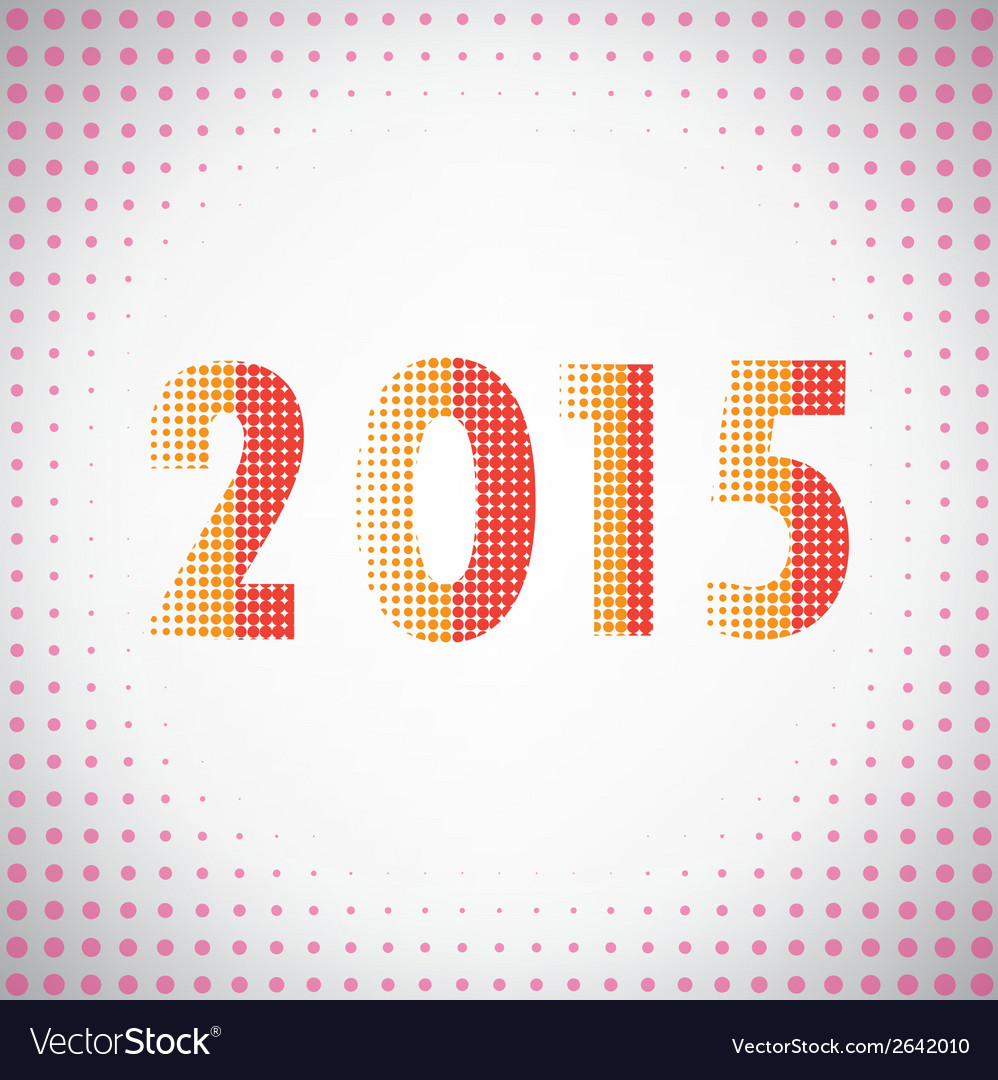 Creative happy new year 2015 text design vector | Price: 1 Credit (USD $1)