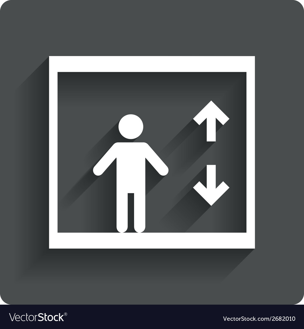 Elevator icon person symbol with up down arrows vector | Price: 1 Credit (USD $1)
