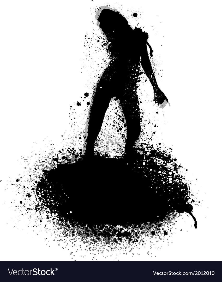 Ink blots silhouette vector | Price: 1 Credit (USD $1)