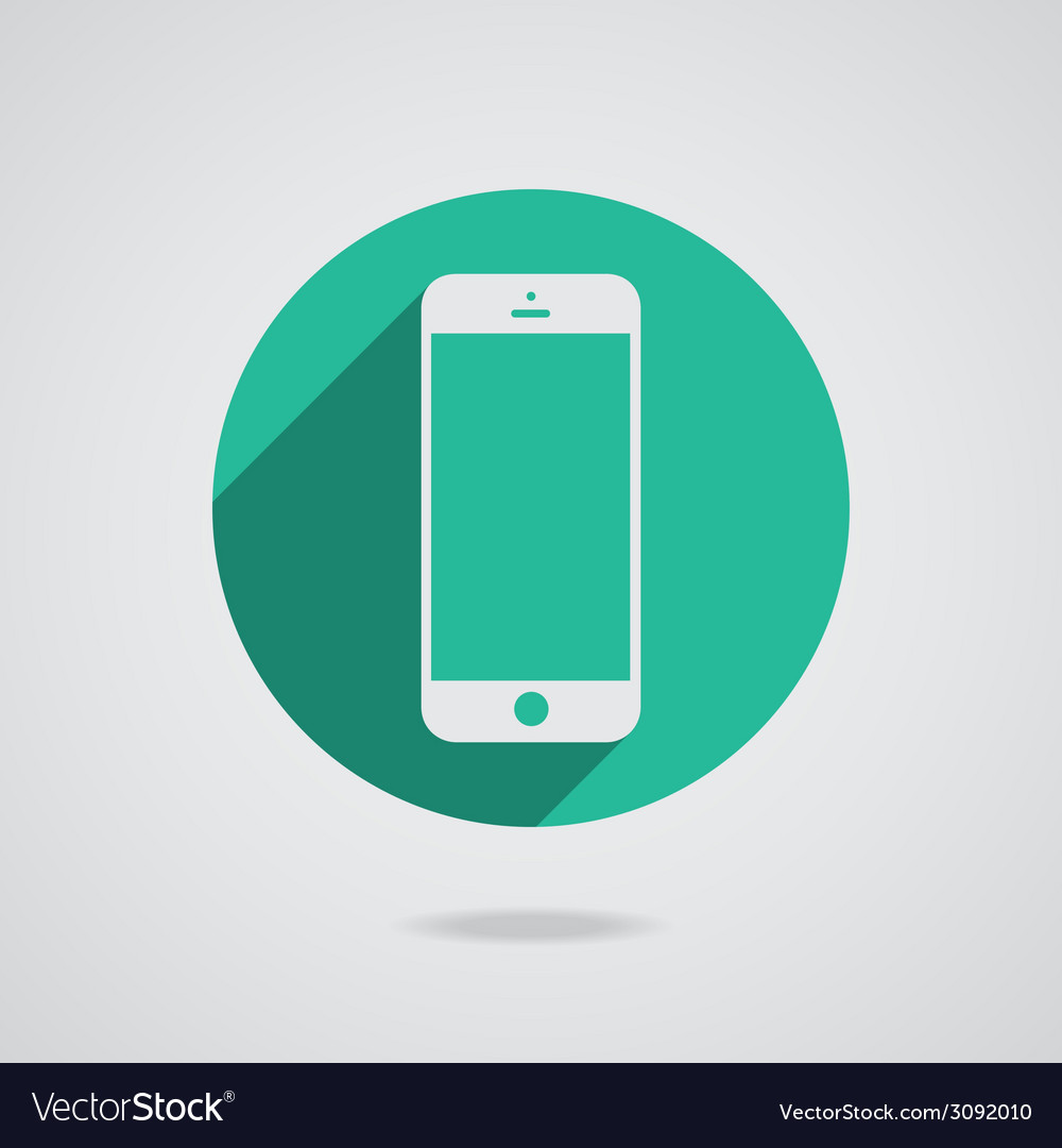 Mobile iphone in white line vector | Price: 1 Credit (USD $1)