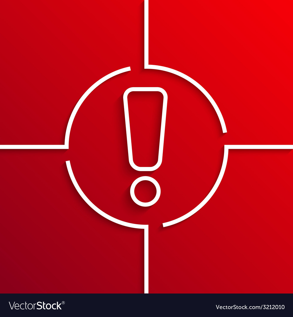 Modern white circle icon on red background vector   Price: 1 Credit (USD $1)