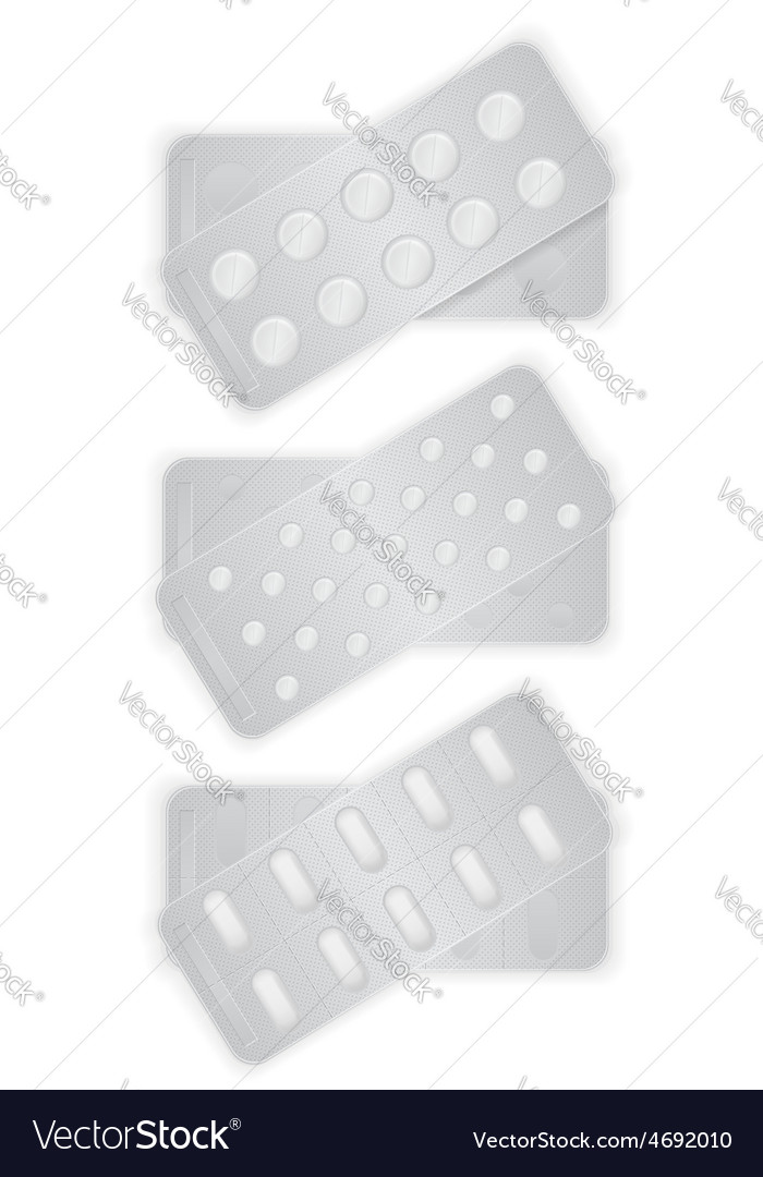 Pill in package 14 vector | Price: 1 Credit (USD $1)
