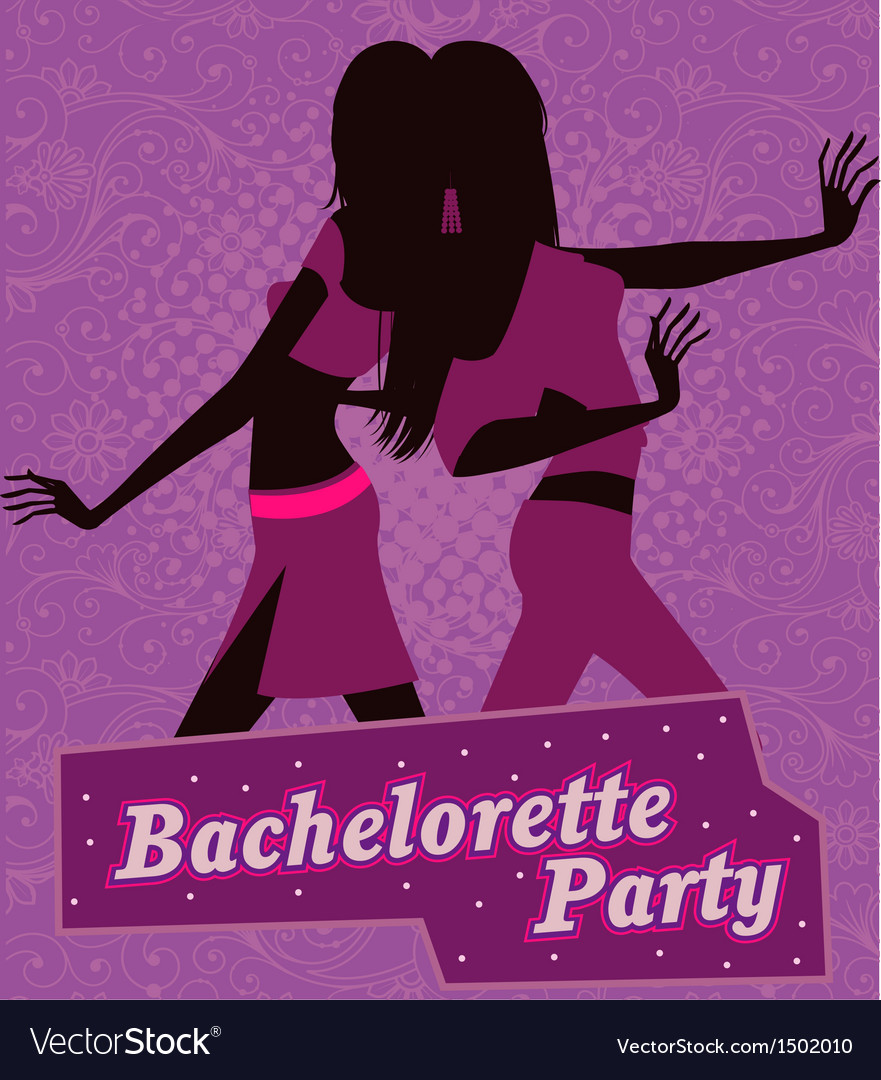 Poster for bachelorette party vector | Price: 1 Credit (USD $1)