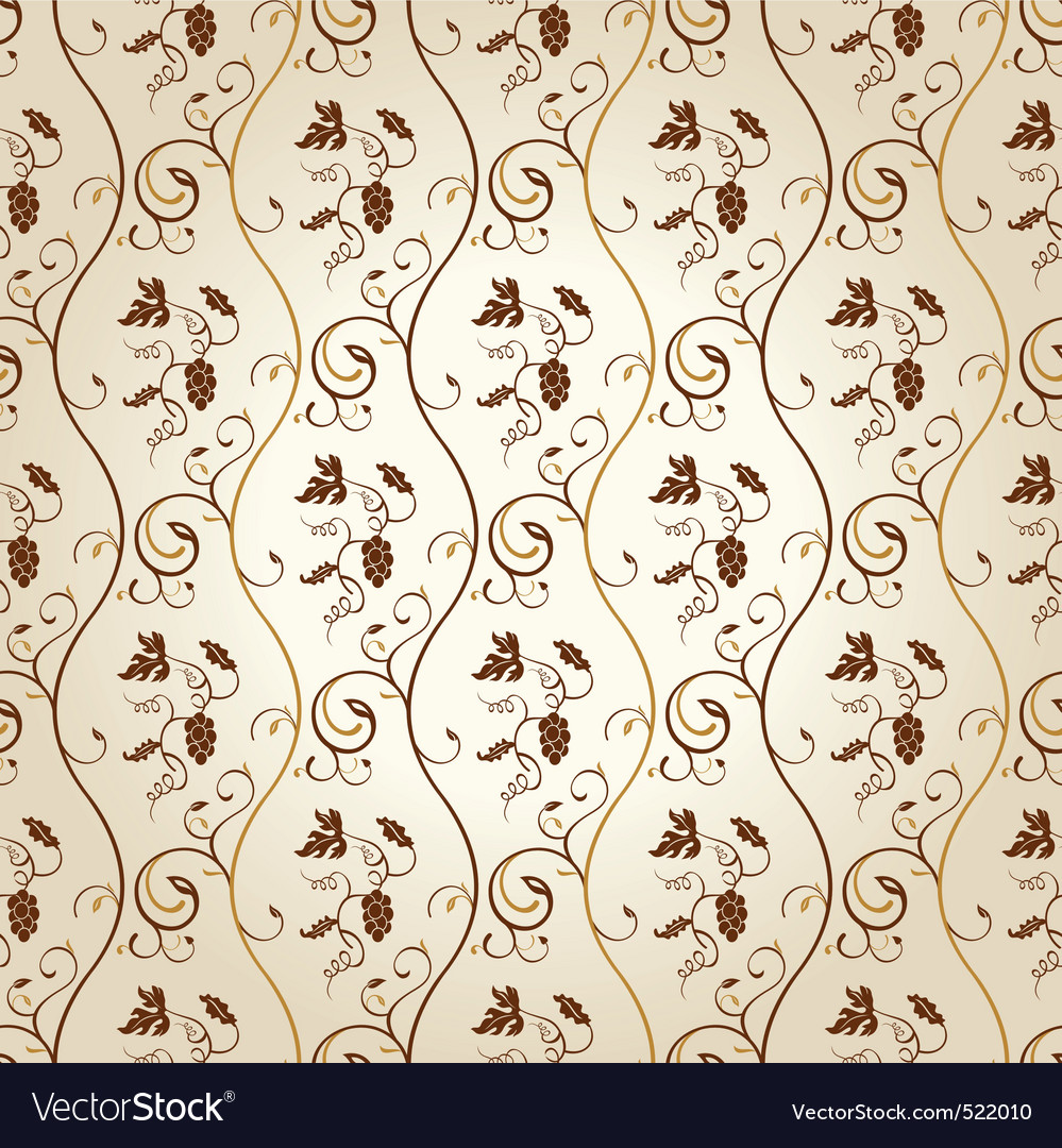 Seamless wallpaper background grapes decor vintage vector | Price: 1 Credit (USD $1)