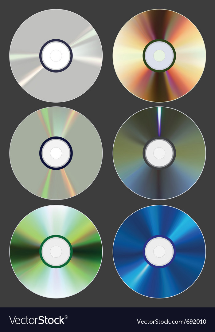 Set of discs cd dvd blu-ray vector | Price: 1 Credit (USD $1)