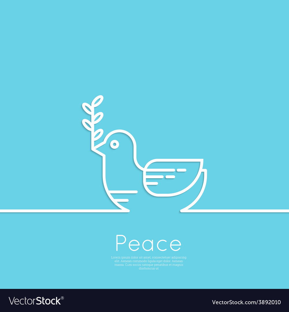 Symbol of peace dove vector | Price: 1 Credit (USD $1)