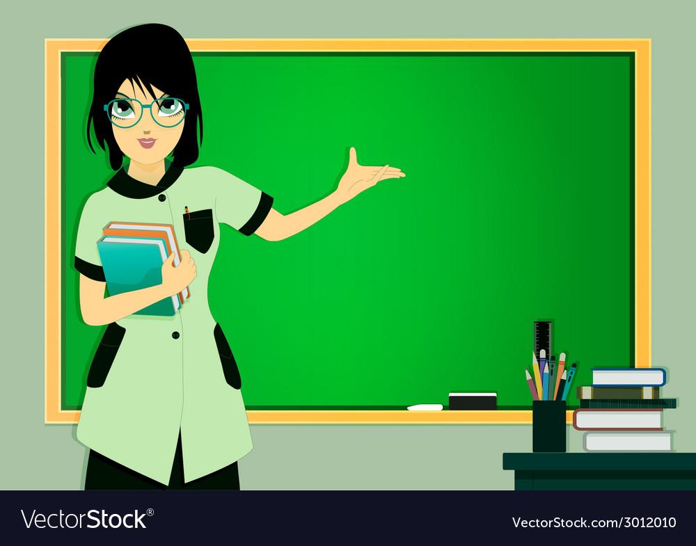 Teacher in class vector   Price: 1 Credit (USD $1)