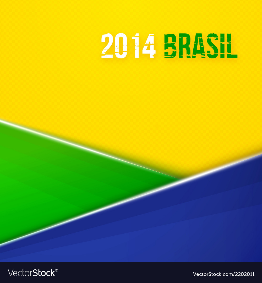 Abstract geometric background with brazil flag vector | Price: 1 Credit (USD $1)