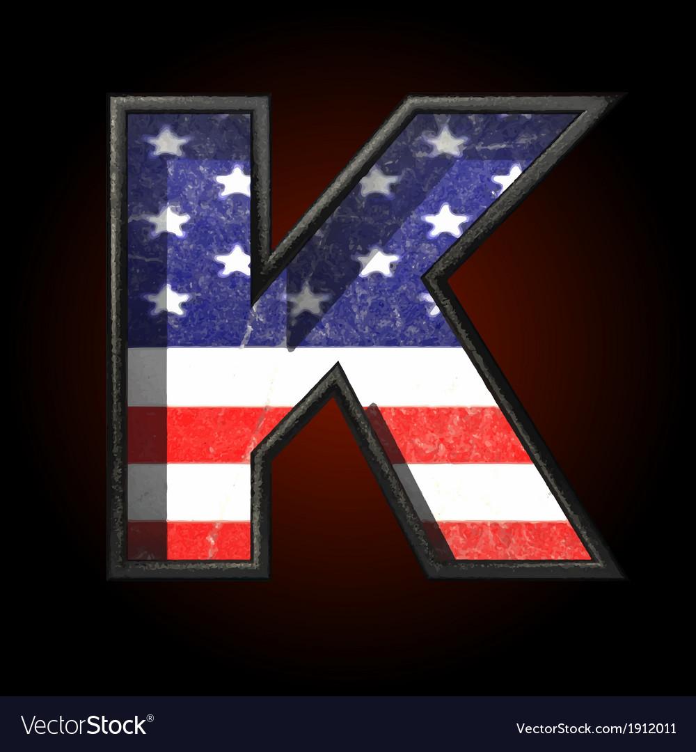 American metal figure k vector | Price: 1 Credit (USD $1)