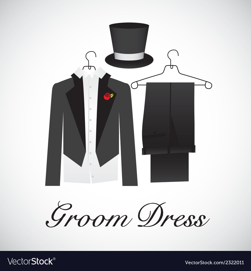 Card marriage groom suits vector | Price: 1 Credit (USD $1)