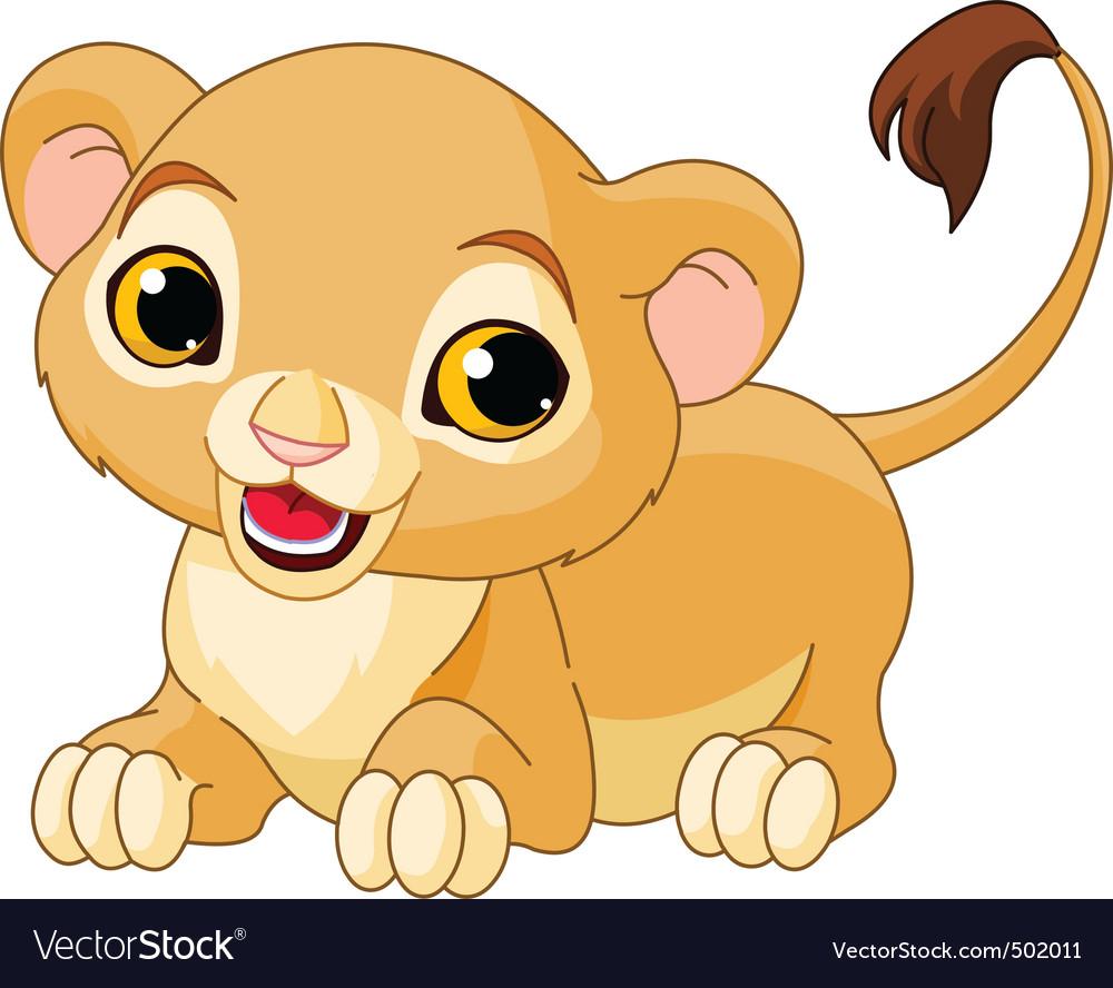 Cartoon lion cub vector | Price: 1 Credit (USD $1)