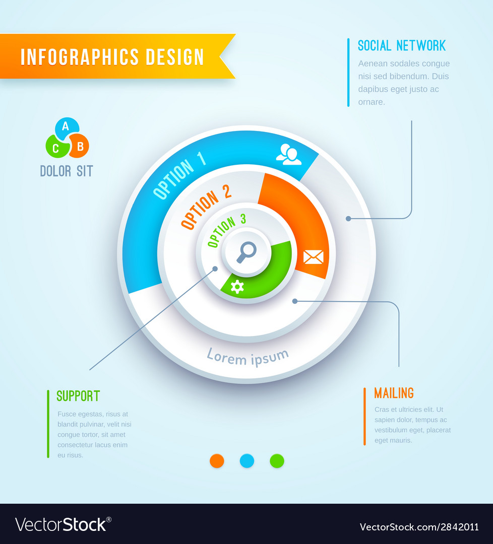 Circle graph infographics vector | Price: 1 Credit (USD $1)