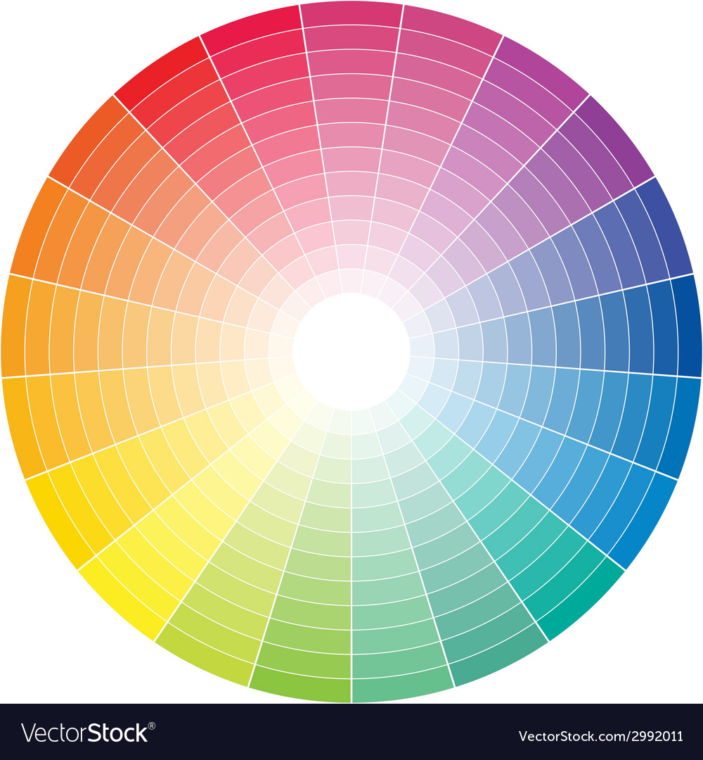 Color whell to white vector | Price: 1 Credit (USD $1)