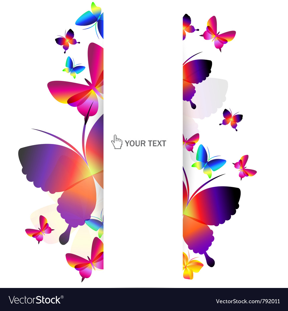 Colorful butterfly background vector   Price: 1 Credit (USD $1)