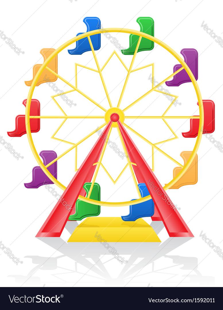 Ferris wheel 01 vector | Price: 1 Credit (USD $1)