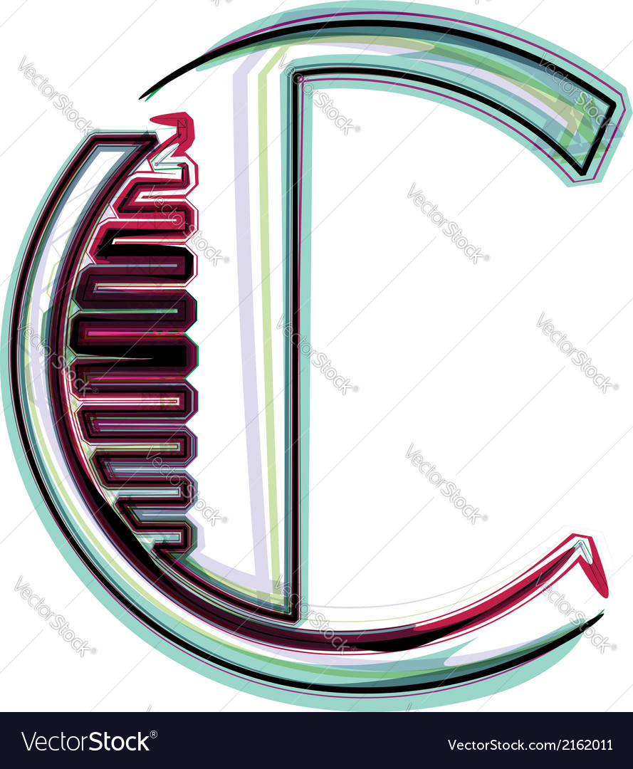Font letter c vector | Price: 1 Credit (USD $1)