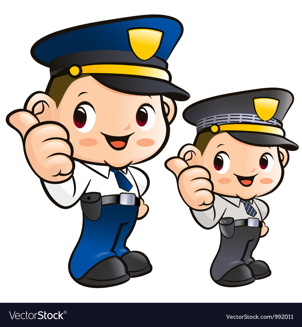 Friendly police officer character vector | Price: 3 Credit (USD $3)