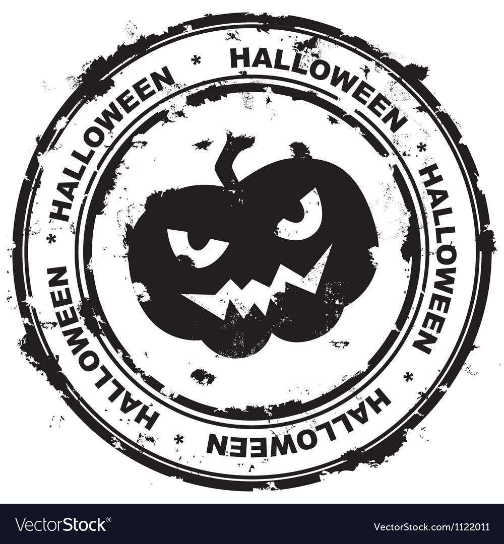 Halloween stamp vector | Price: 1 Credit (USD $1)