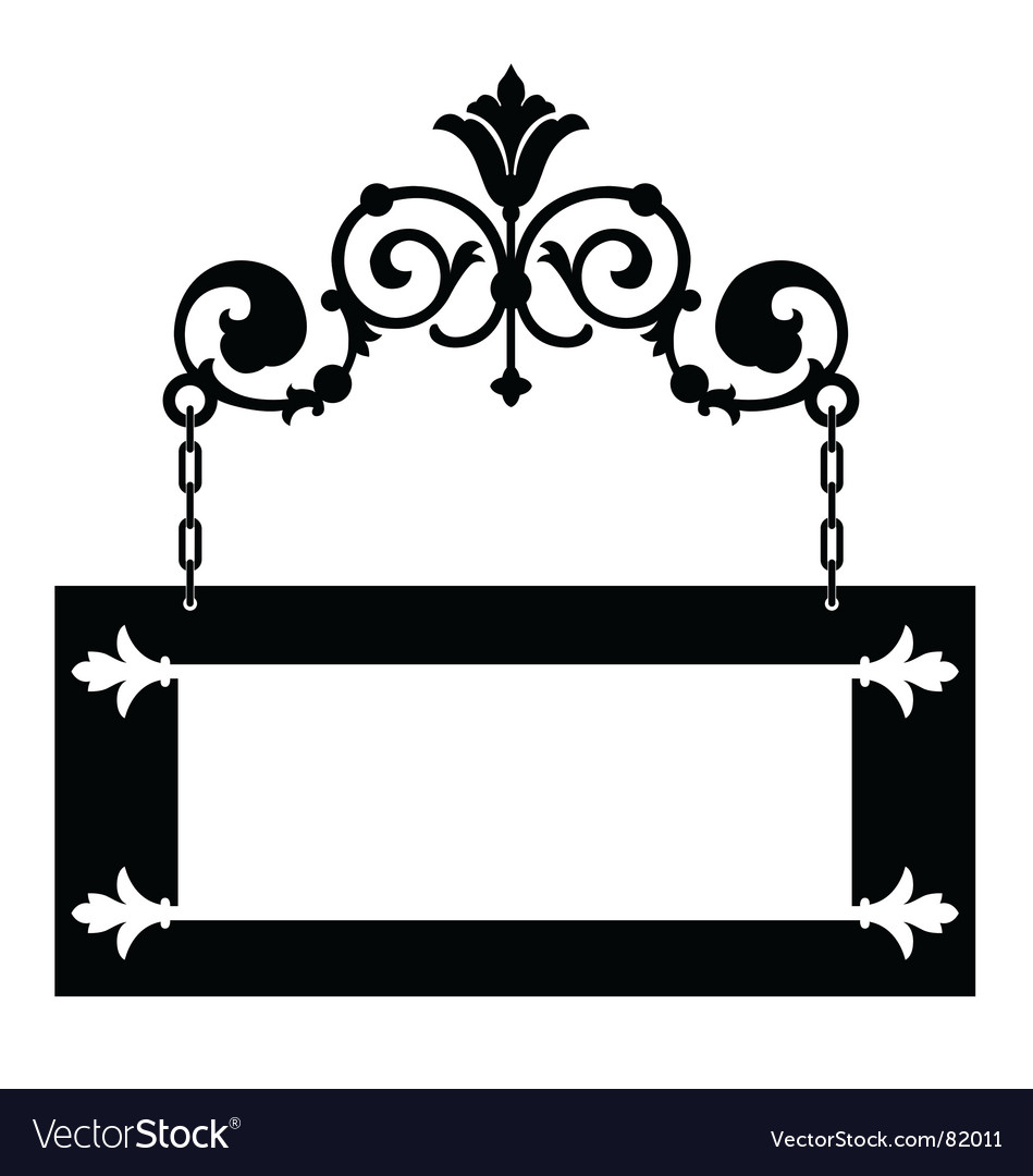 Iron hanging sign vector | Price: 1 Credit (USD $1)