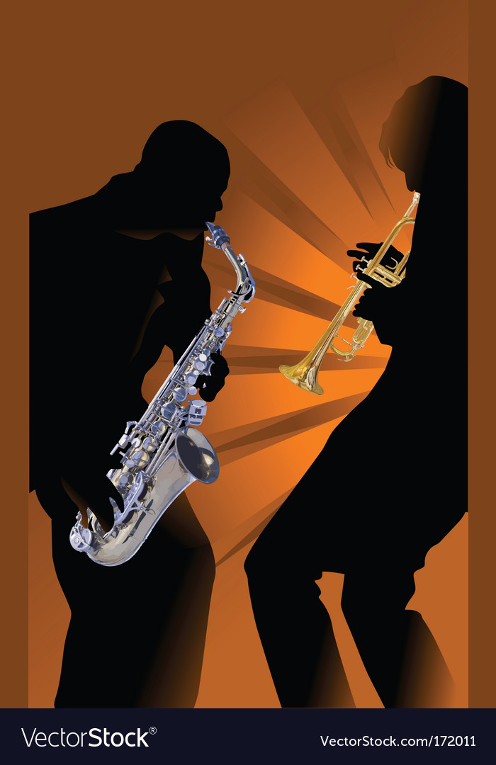 Music saxophone vector | Price: 1 Credit (USD $1)